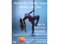 Pole Fitness Classes, Madame Peaches 🍑