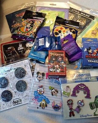Disney Authentic 25 Pin Trading Lot Unopened Booster And Pin Packs (b3)