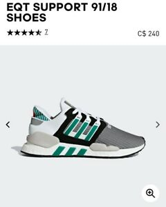Brand new Adidas EQT support 91/18 shoes 10.5