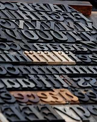 Letterpress Wood Printing Blocks 168pcs 1.42 Tall Wooden Type Woodtype Alphabet