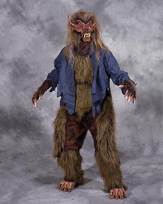 Werwolf Lone Wolf Erwachsene Halloween Kostüm Braun Maske Handschuhe Brust Beine