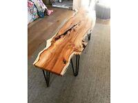 Yew wood coffee table (new)
