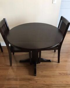 Small Dining Table, Solid Wood, Foldable (PLUS free tablecloth)