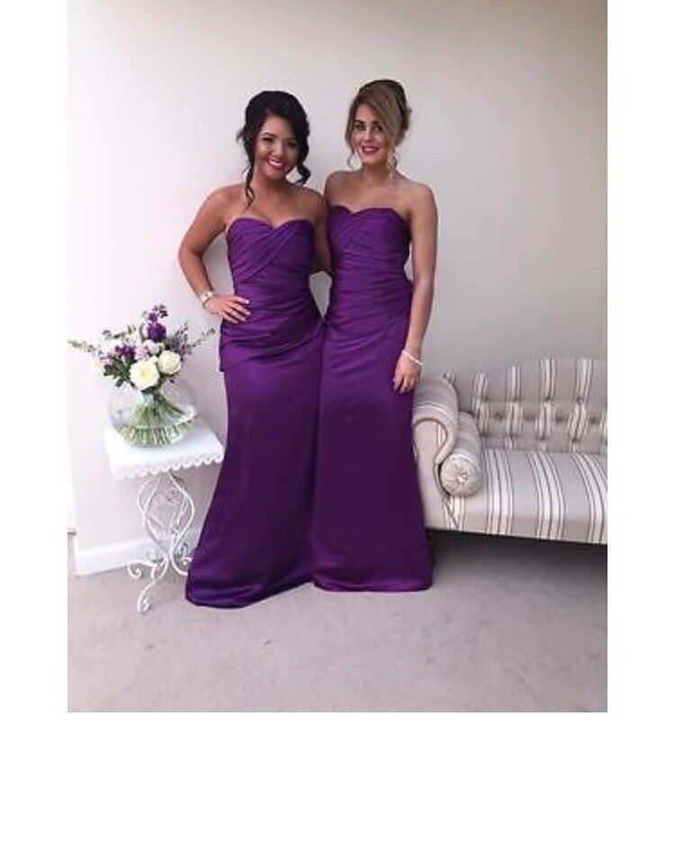 2x Cadbury purple bridesmaids dresses | in Helensburgh, Argyll and ...