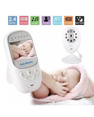 "2.4""Digital Video Baby Monitor Wireless 2 way Talk Safety Night Vision Viewer"