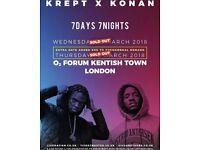 Krept & Konan tickets O2 Kentish Town, both days available!
