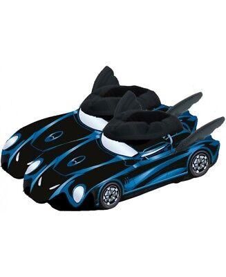 Batman 3D Hausschuhe Pantoffel Schuhe Batmobil Fledermaus (Fledermaus Schuhe)
