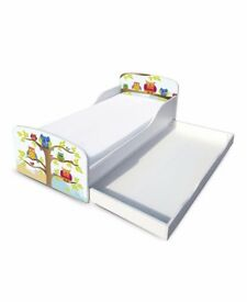 Owl Toddler Bed - White