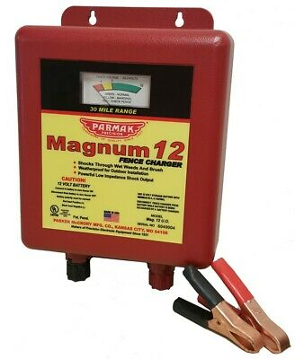 Parmak Mag12uo Magnum 12uo Battery-operated Low Impedance Fence Charger 12v