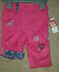 Baby girls pink pants bnwt 0-3 months