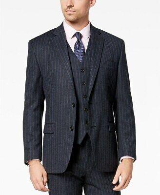 Lauren Ralph Lauren Men's Wool Classic-Fit Suit Jacket, Charcoal/Blue stripe 50L Charcoal Stripe Suit Jacket