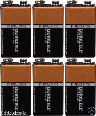 6 Pcs Brand New 9V 9 Volt 9 V Duracell CopperTop Battery MN1604 6LR61 Exp 2020