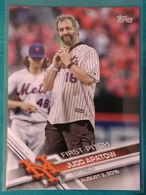 2017 Topps First Pitch Judd Apatow  3 Citi Field New York Mets Director 08 02 16