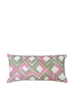 Trina Turk® Tiger Leaf Multi Diamond Rectangle Decorative Toss Pillow 10