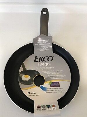 Echo Frying Pan Skillet 9.5 inch Non Stick Charcoal Gray Low Fat Cooking New - Frying Pan Charcoal