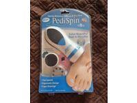JML Pedispin Electronic Pedicure Spinning Foot File For Removing hard Skin