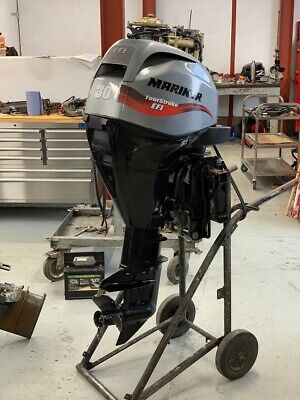 Used Mariner 30hp EFI 4 Stroke Outboard Power Tilt, Remote Control - Long Shaft