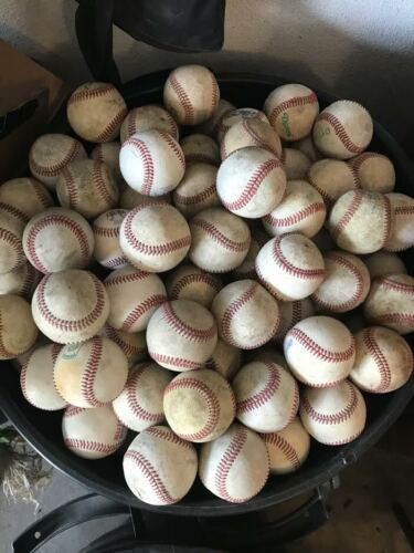 LOT OF 32 USED Leather Baseballs Practice Balls FREE Priority SHIPPING