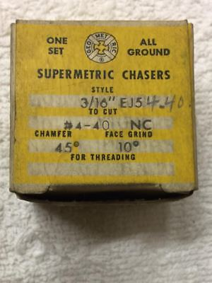 Used Supermetric 4-40 Chasers For Geometric 316 Ej5 Die Head