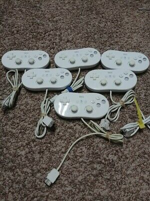 Official Nintendo Wii Classic Pro Controller White RVL-005  OEM TESTED