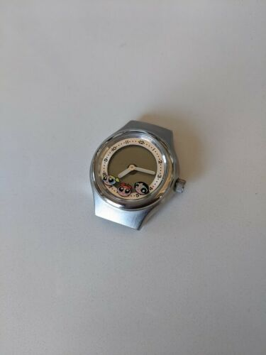 90s Fossil Warner Bros Studio Store Rare Power Puff Girls Big Tic Watch AS IS