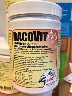 DAC DACOVIT 600g PIGEONS BIRDS VITAMINS MINERALS DEXTROSE RACING BREEDING MOULTI