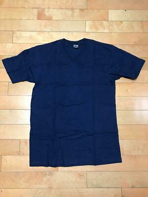 MENS V NECK T SHIRT TEE HEAVY WEIGHT SKYLAND 100% COTTON NAVY BLUE SZ XL-3XL