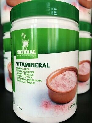 NATURAL GRANEN VITAMINERAL 1 KG PIGEON POULTRY VITAMINS MINERALS CALCIUM PINK YB