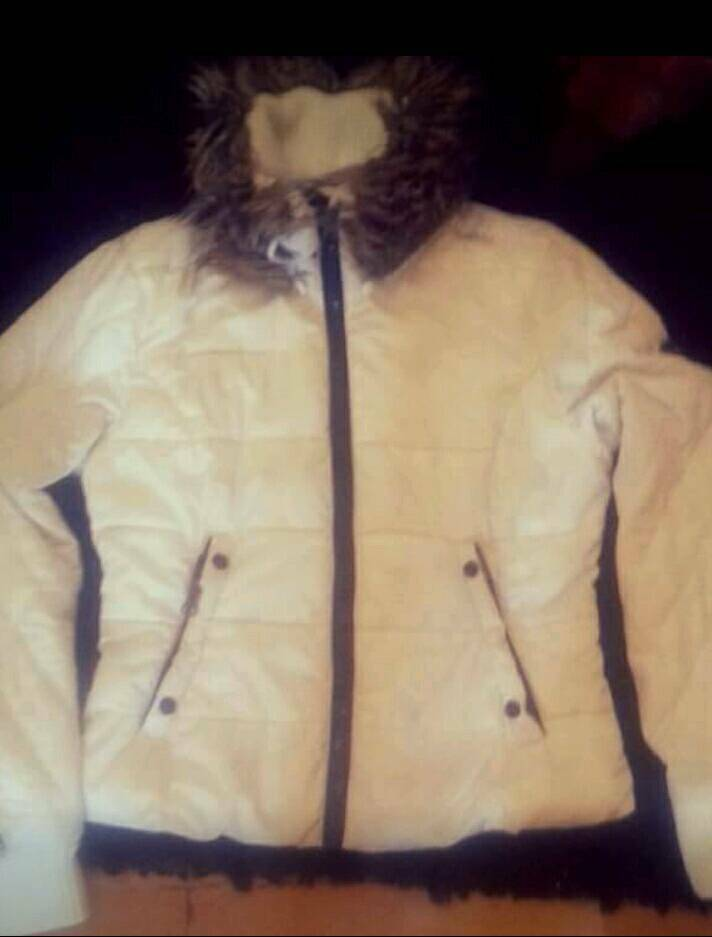 Genuine Superdry Ladies White Coat Size Medium