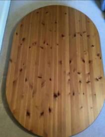 Ikea leksvig wood dining table