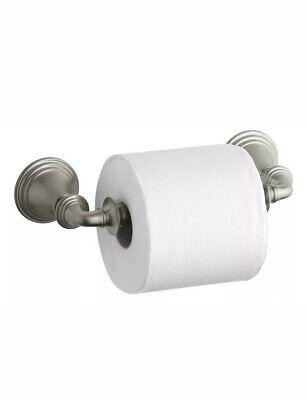 KOHLER K-10554-BN Devonshire Toilet Tissue Holder, Double Post, Vibrant -