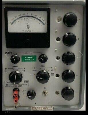 Vintage John Fluke Differential Dc Voltmeter Model 823a