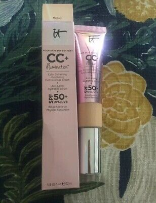 IT Cosmetics CC+ Cream (MEDIUM) Your Skin but better Illumination SPF 50. (Best Makeup Faces)