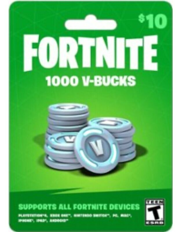 Fortnite 1,000 V-Bucks Card - 100% Legit