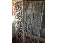 Beautiful white shabby chic pearl room divider screen wedding furniture vintage