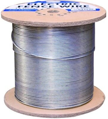 Electric Fence Wire 1/4 Mile Galvanized 14 Gauge Cattle Cows