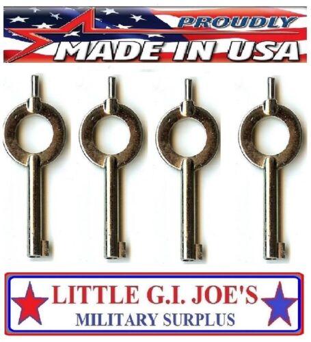 (4) Police Universal Standard Handcuff Keys You Get 4 Cuff Keys READ DESCRIPTION