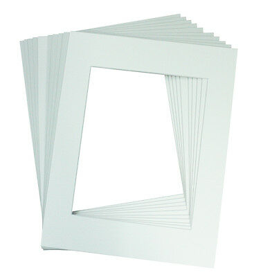 Set of 10 WHITE 8x10 Picture Mat Matting with White Core Bevel Cut for 5x7 Photo
