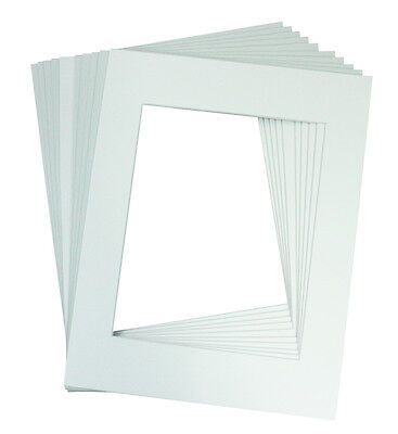 Pack of 10 11x14 White Picture Mats with White Core Bevel Cut for 8x10 Pictures