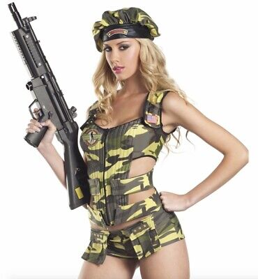 Army Brat Halloween Costume (HALLOWEEN - Be Wicked 3-piece army brat costume - small/medium - NEW IN)