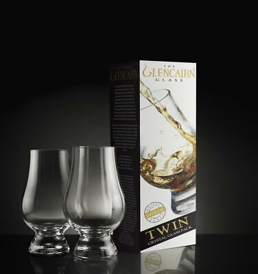 The Glencairn Crystal Whiskey Tasting Window, Twin Pack, Set of 2 NEW