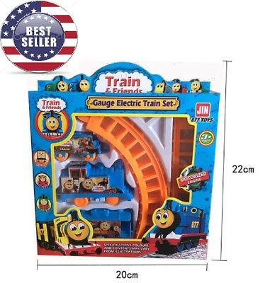 Electric Train Set Kid toddler Toy Battery Operated Railway birthday gift Gear Set Toys