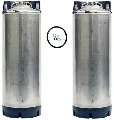 5 Gallon Ball Lock Two Pack Kegs Reconditioned - Class 3 - Beer - Free Shipping