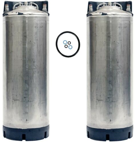 2 Pack - 5 Gallon Ball Lock Kegs Reconditioned - Homebrew Beer Soda - Ships Free