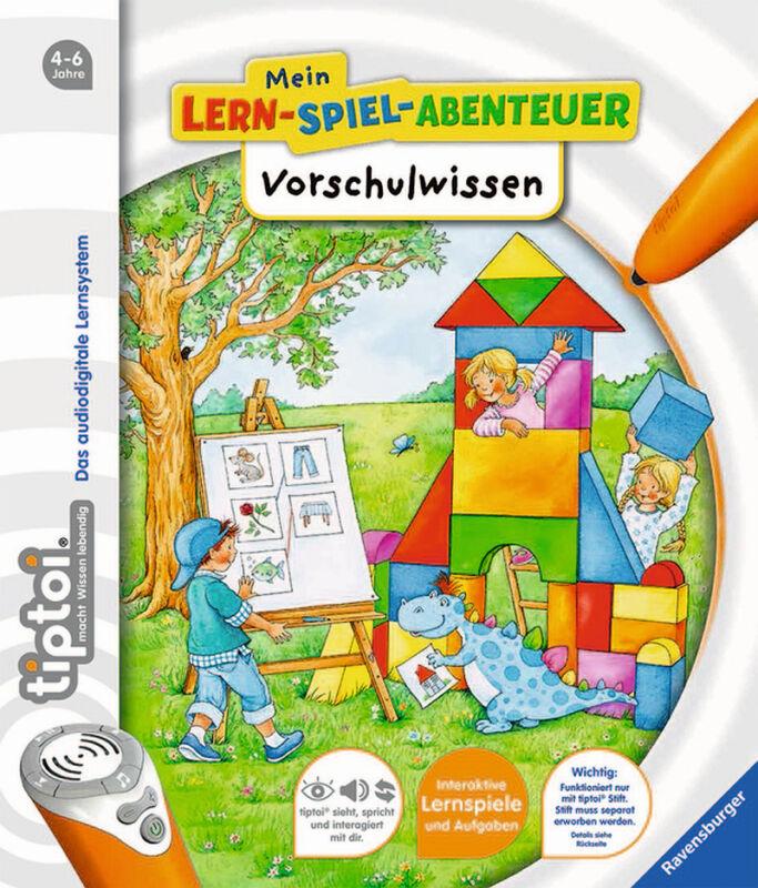tiptoi Vorschulwissen 4-6 Jahre Ravensburger Mein Lern Spiel Abenteuer +BONUS