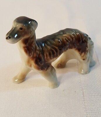 "Vintage Miniature Borzoi Russian Wolfhound Porcelain Figurine -3 3/4""  526"