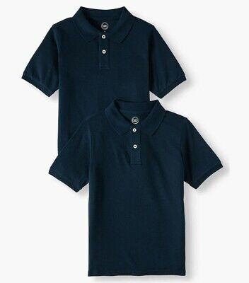 Boys Wonder Nation School Uniform Navy, Short Sleeve Pique Polo,14-16 2 pk Boys School Uniform