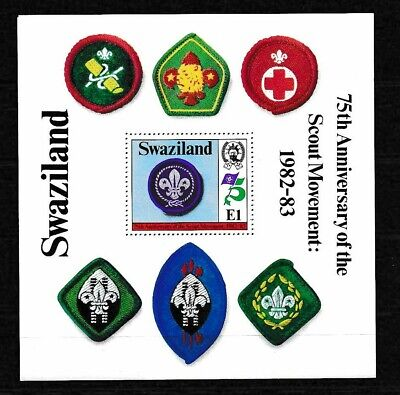 Swaziland 1982 Scouting 75th Ann MS SC# 422 MNH Mint/Never Hinged