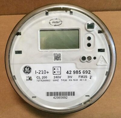 Ge I-210 Watthour Electric Smart Meter Cl200 240v 3w Fm2s W Perforations