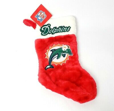 NFL Miami Dolphins Christmas Stocking Holiday Logo New Gift (Football Christmas Stocking)